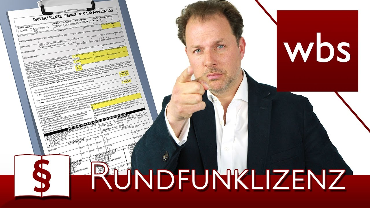 Link zum YouTube-Video Rundfunklizenz