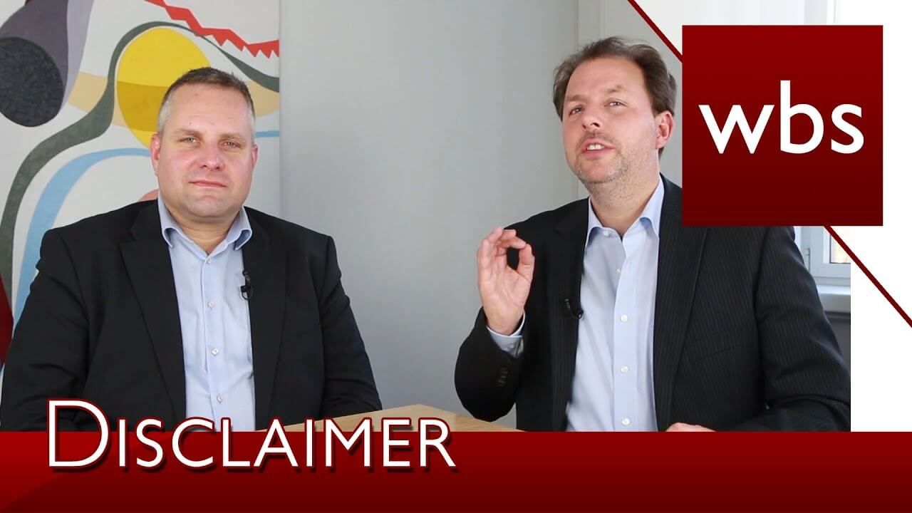 Link zum YouTube-Video Abmahnung wegen Disclaimer in Impressum