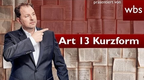 YouTube Video: Artikel 13 in Kurzform, was steht genau drin?