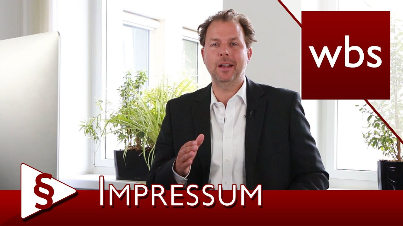 YouTube-Video: Was muss in ein Impressum?